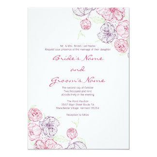Precious Peony Wedding Invitation