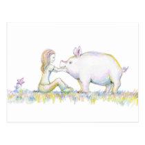 Precious Pig Postcard