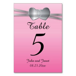 Precious Pink and Silver Wedding Love Hearts Card