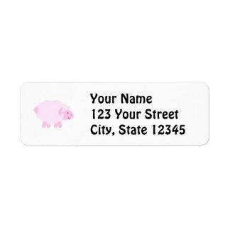 Precious Pink Little Lamb Return Address Label