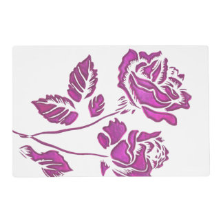 Precious Pink Rose Placemat