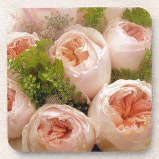 Precious Pink Roses Beverage Coaster