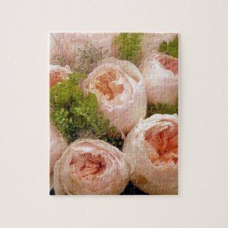 Precious Pink Roses Jigsaw Puzzle