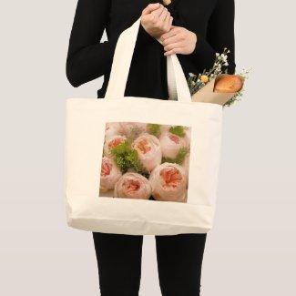 Precious Pink Roses Large Tote Bag