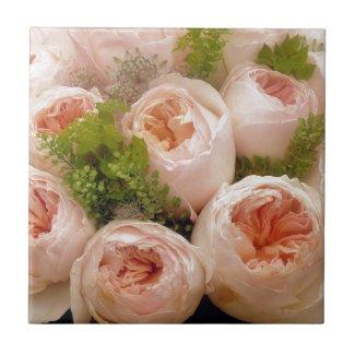 Precious Pink Roses Tile