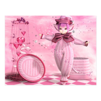 Precious Pink Whimsy Postcard