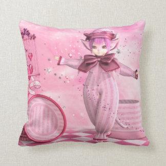 Precious Pink Whimsy Throw Pillow
