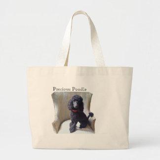 Precious Poodle Large Tote Bag