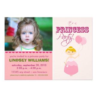 Precious Princess Party Invitation pink