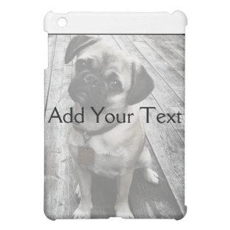 Precious Pug Puppy in Black and White iPad Mini Covers