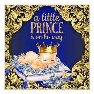 Precious Royal Prince Baby Shower Card