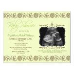 Precious Sonogram Baby Shower Invitation (green)