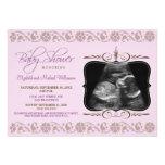 Precious Sonogram Baby Shower Invitation (lilac)