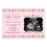 Precious Sonogram Baby Shower Invitation (pink)
