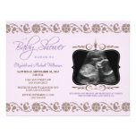 Precious Sonogram Baby Shower Invitation (purple)