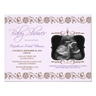 Precious Sonogram Baby Shower Invitation (purple)