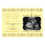 Precious Sonogram Baby Shower Invitation (yellow)