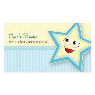 Precious Star Mommy Card Baby Blue Business Card