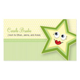 Precious Star Mommy Card Baby Green Business Card