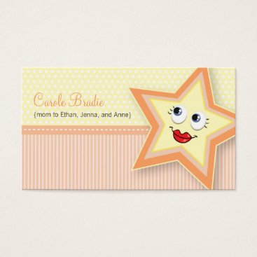 Professional Business Precious Star Mommy Card Baby Peach Business Card