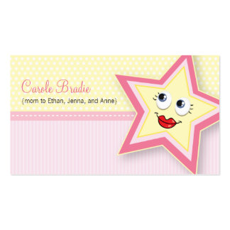 Precious Star Mommy Card Baby Pink Business Card