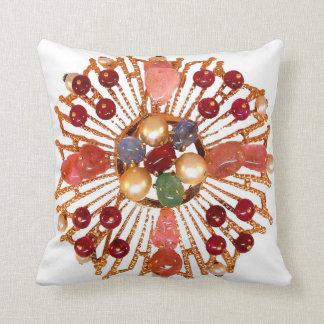 Precious Stones Vintage Costume Jewelry SOFA BLING Pillow