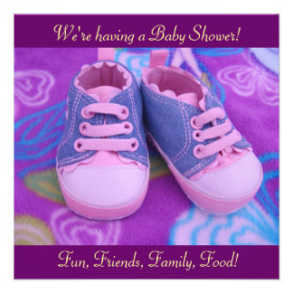 Precious Sweet Baby Shower Invitations Pink Shoes