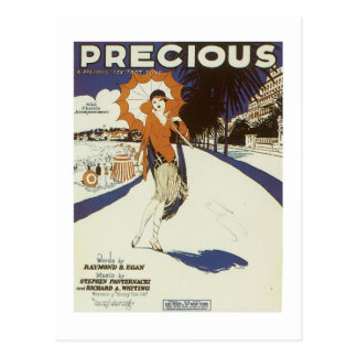 Precious Vintage Songbook Cover Postcard