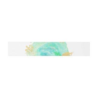 Precious Watercolor Envelope Belly band