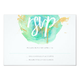 Precious Watercolor RSVP card