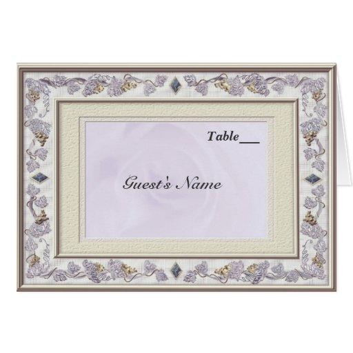 Precious wedding table seating menu card zazzle for Table 9 menu