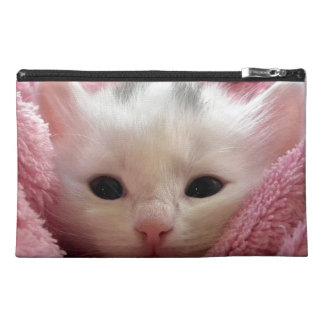 Precious White Kitten Travel Accessories Bags