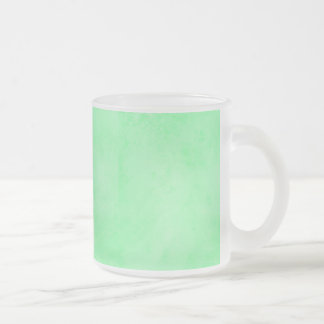 PRECIOUSLY PERFECT MINTY GREEN TEXTURE BACKGROUNDS FROSTED GLASS COFFEE MUG