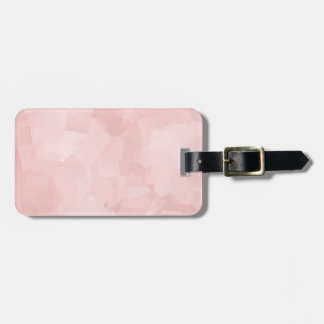 PRECIOUSLY PERFECT PINK CUBES LAYERED TEXTURE BACK LUGGAGE TAG