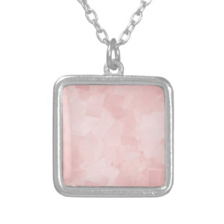 PRECIOUSLY PERFECT PINK CUBES LAYERED TEXTURE BACK PENDANTS