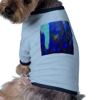 Precipicio azul paisaje abstracto ropa para mascota