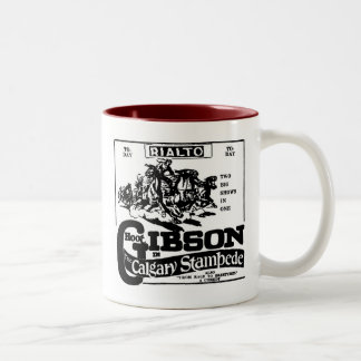 PRECIPITACIÓN 1925 de Gibson CALGARY del pitido Taza De Dos Tonos