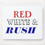 Precipitación blanca roja alfombrilla de ratón