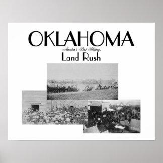 Precipitación de la tierra de ABH Oklahoma Poster
