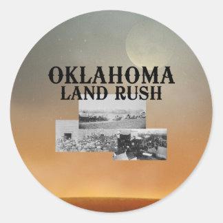 Precipitación de la tierra de ABH Oklahoma Pegatina Redonda