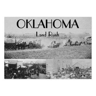Precipitación de la tierra de ABH Oklahoma Tarjetas De Visita Grandes