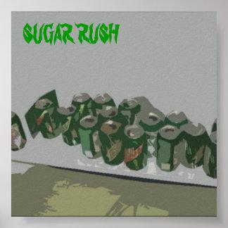 Precipitación del azúcar póster