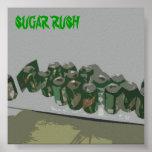 Precipitación del azúcar posters