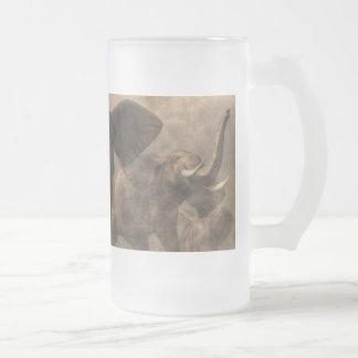 Precipitación del elefante jarra de cerveza esmerilada