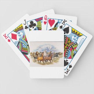 Precipitación del semental baraja cartas de poker