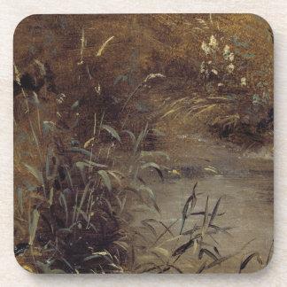 Precipitaciones por una piscina, c.1821 (aceite en posavasos de bebida