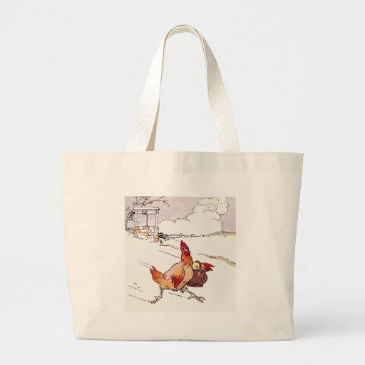 Precipitado apresuramiento de la gallina bolsas