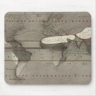 Precipitation World Map Mouse Pad