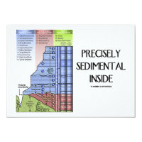 Precisely Sedimental Inside (Grand Canyon Layers) 4.5x6.25 Paper Invitation Card