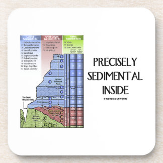 Precisely Sedimental Inside (Grand Canyon Layers) Beverage Coaster